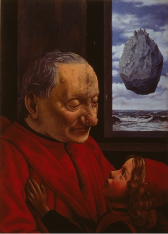 Portrait of an Old Man with a Child, Restored    
