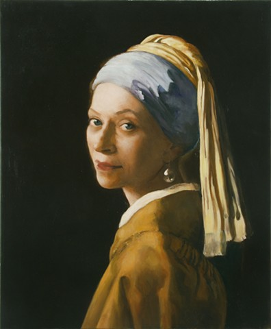 Melva Bucksbaum as Woman with a Pearl Earring
