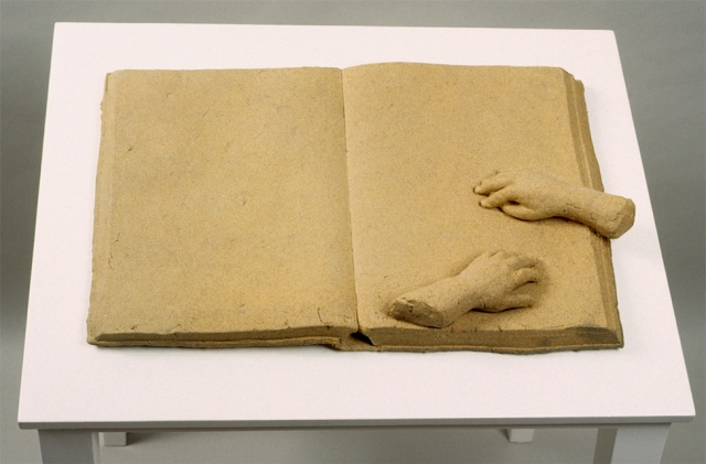 Small Hands on Book, sculpture