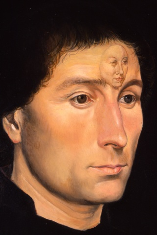 Portrait of Tommaso Portinari, Restored (Detail)