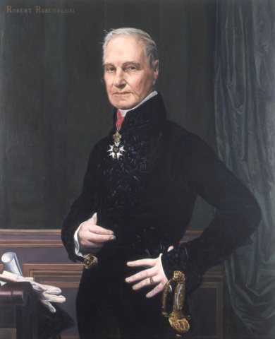 Portrait of Robert Rosenblum as the Marquis de Pastoret