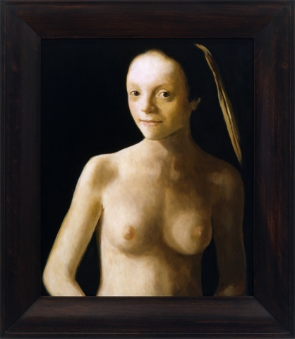 Portrait of a Young Woman, Restored (Nude), Restored