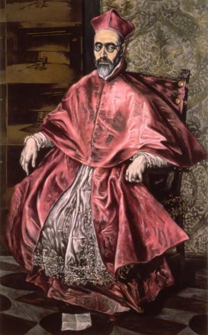 Portrait of Cardinal Nino De Guevara, Grand Inquisitor, Restored