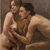 Selected Details After Ingres #2, Portrait of Duchamp, 2009