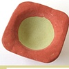 Red with Olive Green Concrete Bowl