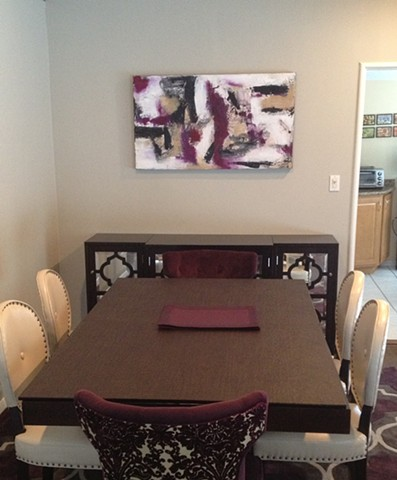 This piece was customized for this dining room.