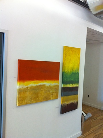 """Two blends: """"Environmental Abstraction in Orange"""" and """"Environmental Abstraction In Gold""""."""
