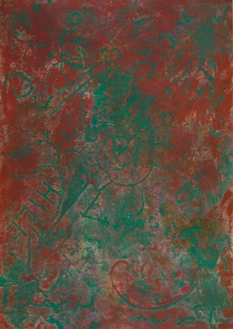 Venetian red and veronese green painting