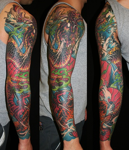 red dragon sleeve