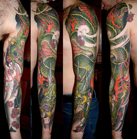 green dragon sleeve