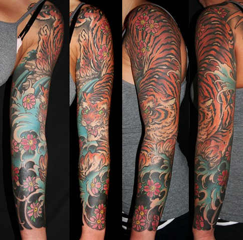tiger and blossom arm