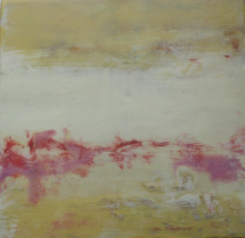 ENCAUSTIC PAINTING,  beeswax and oilstick