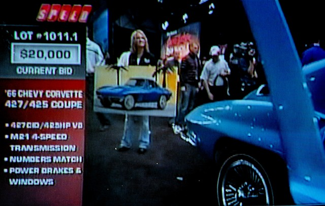 66 corvette on speed vision-Barrett Jackson