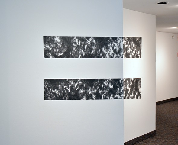 Equilibrium is a site-specific graphite drawing executed on August 26-29, 2015 at the McLean Project for the Arts.