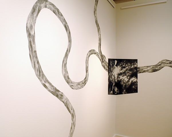 Confluence site-specific drawing at VisArts Rockville