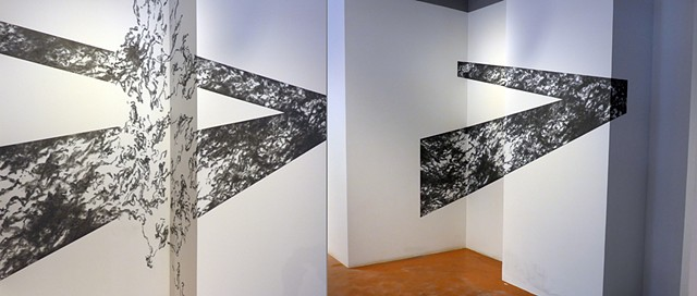 Stuart's Draft, 2014,  John M. Adams, Site-specific Drawing at Greater Reston Arts Center