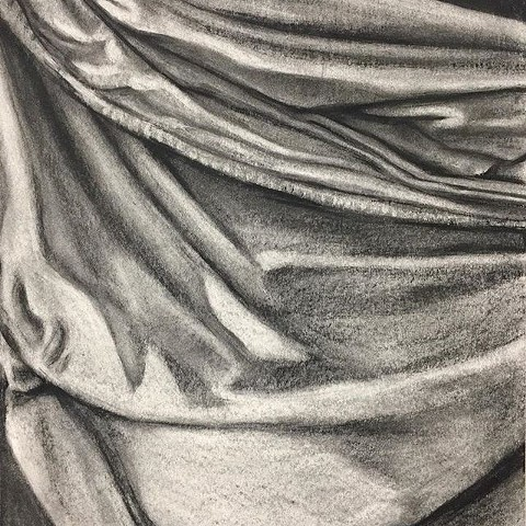 Drawing of a Drapery