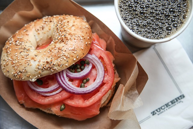 Zucker's Traditional Everything Bagel with Nova Smoked Salmon