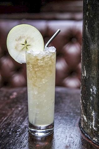 Pear, Hard Cider, and Ginger Syrup Lemonade