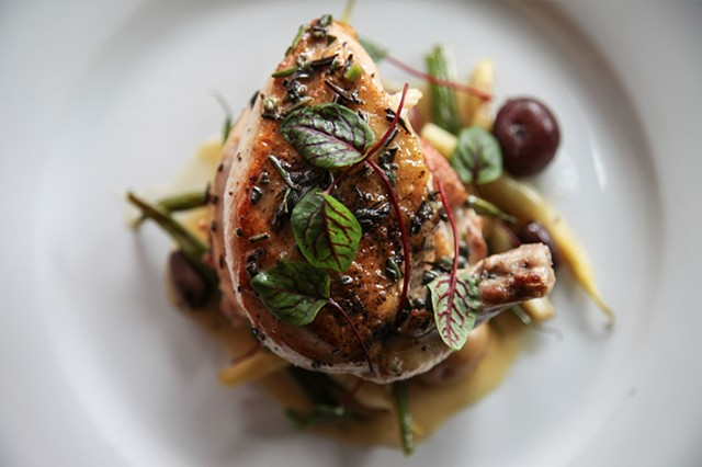 Chicken with Kalamata Olives and Herb Jus