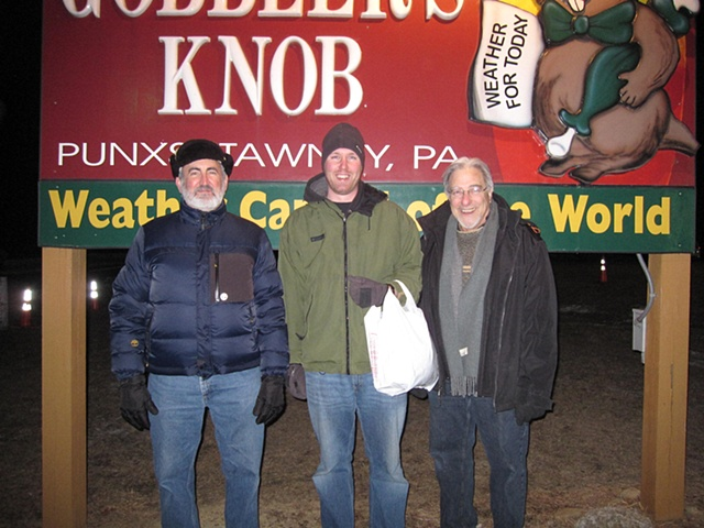 Craig Nutt, Matt Nauman, and Alphonse Mattia at Groundhog Day