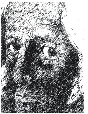 Face Of Wisdom (Black & White)