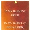 In My Darkest Hour (Bookmark)