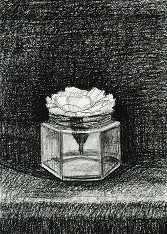 White Flower in Small Jar