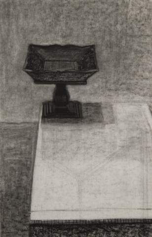 Wooden Object on Table (Drawing)