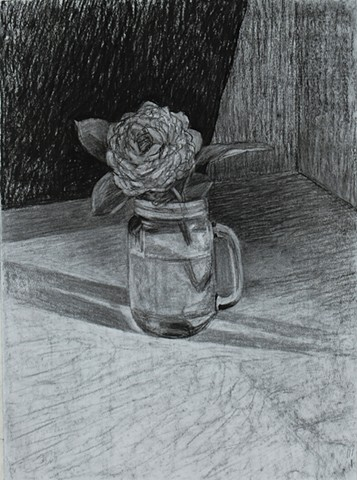 Large Rose in Jar
