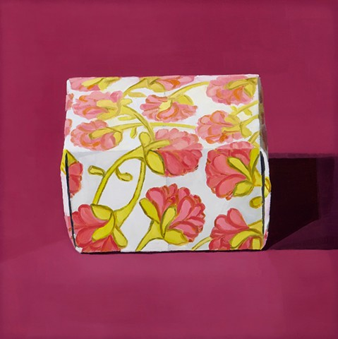 Paper Box with Pink Flowers