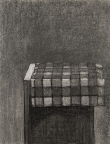 Checkered Cloth on Pedestal (Drawing)