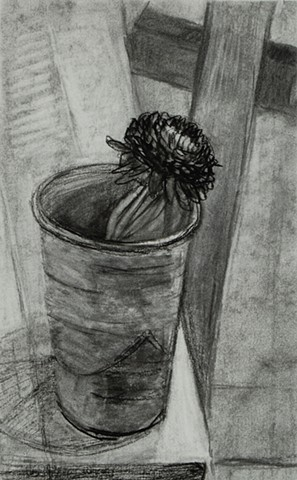 Dark Flower I (with Easel Leg)
