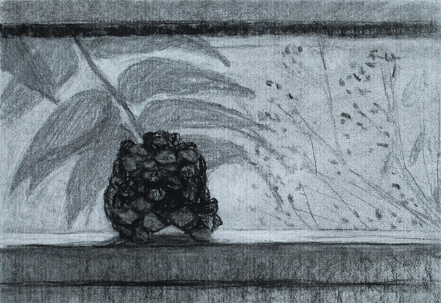 Pine Cone on Window Sill II