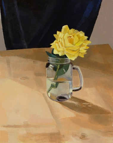 Yellow Rose in a Jar