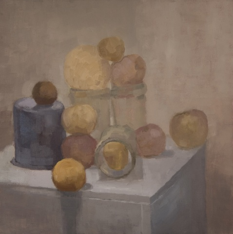 Fruit, Blue Cup and Jars
