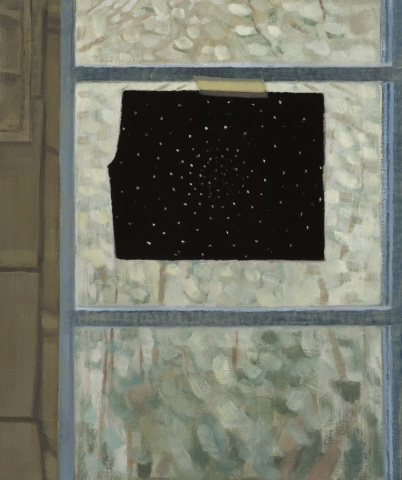 Black Paper in Window