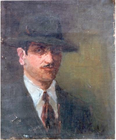 Self Portrait in a Green Hat