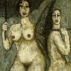 Women with Umbrellas c. 1960  195 x 130cm