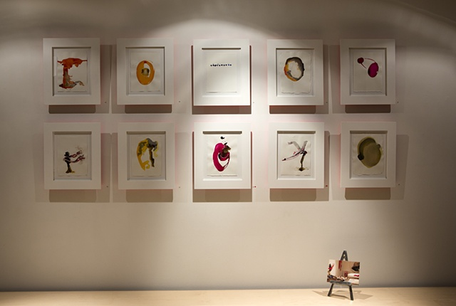 Bird - Like Things in Things Like Trees Installation view Les Yeux du Monde  Inks