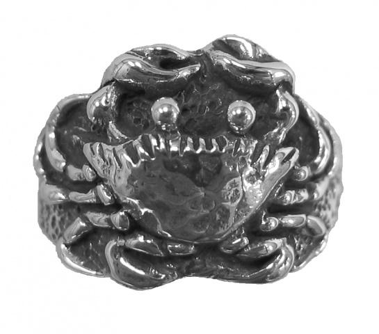 sterling silver crab ring © Nancy Denmark