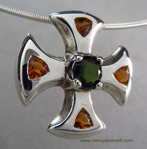 small canterbury cross with gemstones © Nancy Denmark