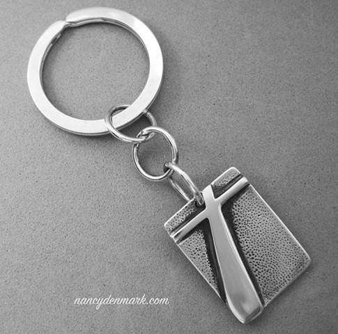 sterling silver cross keychain by Nancy Denmark
