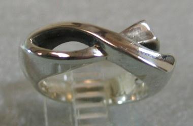 sterling silver ichthus fish ring © Nancy Denmark