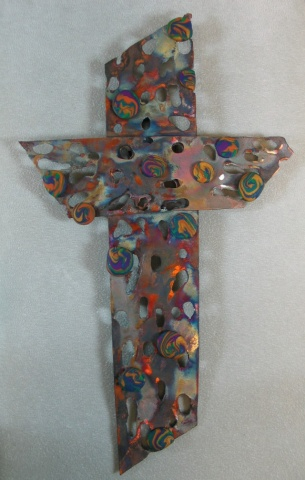 HOLY COPPER CROSS WITH CLAY (SOLD)