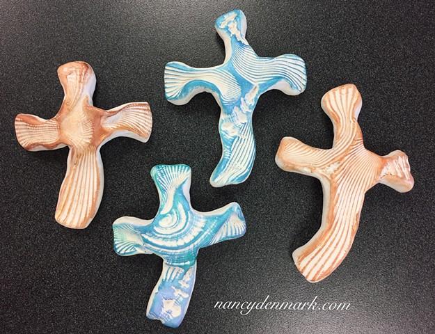 hand crosses made by Nancy Denmark