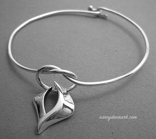 sterling silver descending dove bracelet © Nancy Denmark