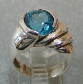 R37 STERLING BLUE TOPAZ RING VIEW 2