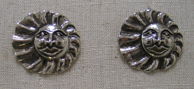 sterling silver sunface earrings