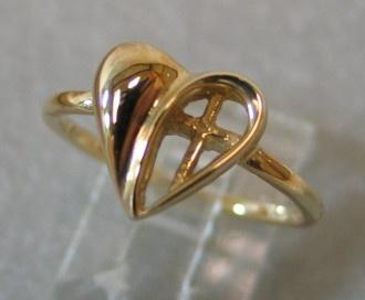 heart with cross ring design © Nancy Denmark
